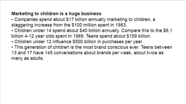Martin Marketing to Children